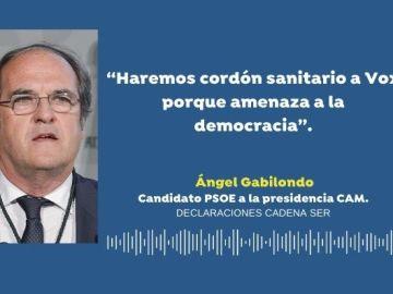 """Elecciones Madrid: Ángel Gabilondo pide un cordón sanitario a Vox """"para que no entre en ningún Gobierno"""""""