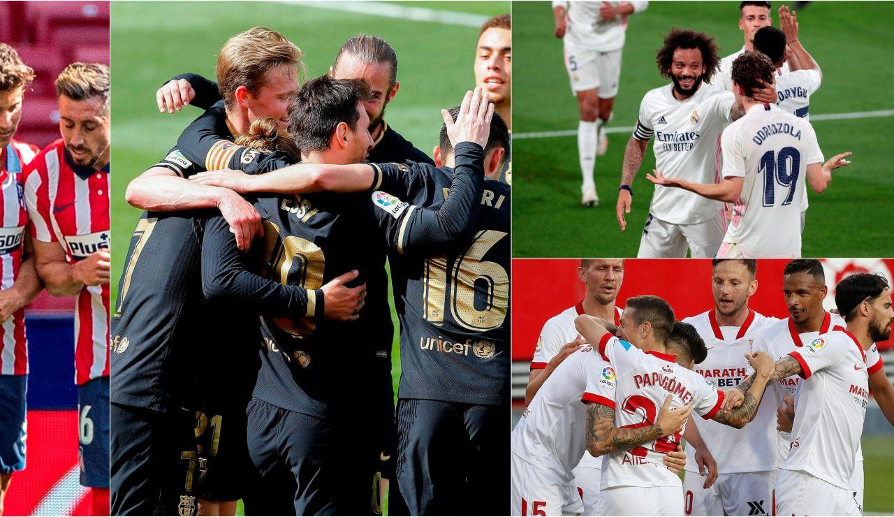 Atlético de Madrid, Real Madrid, Barcelona o Sevilla: ¿Quién ganará la Liga Santander?