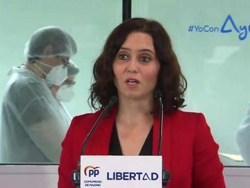 """Isabel Díaz Ayuso asegura que la izquierda """"lo está pasando francamente mal"""" y """"bizquea constantemente"""" en las elecciones de Madrid"""