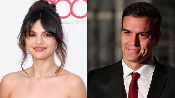 Selena Gomez y Pedro Sánchez