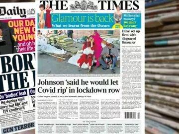 Prensa británica sobre el primer ministro británico