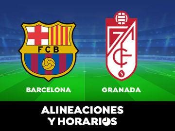 Barcelona - Granada: Horario, alineaciones y dónde ver el partido de la Liga Santander en directo