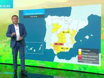 La previsión del tiempo hoy: Lluvias y tormentas localmente intensas en Andalucía, entorno del Estrecho y el interior de Castellón