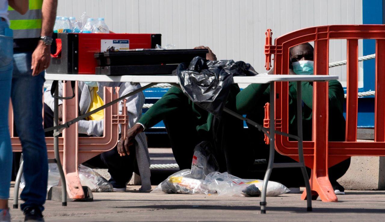 Llegada de migrantes en situación irregular a Los Cristianos