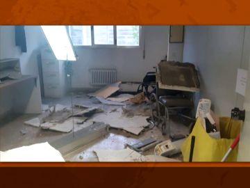 Se rompe el falso techo de una habitación del Gregorio Marañón
