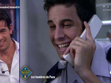 La reacción de Mario Casas al verse en 'Los hombres de Paco' diez años más joven