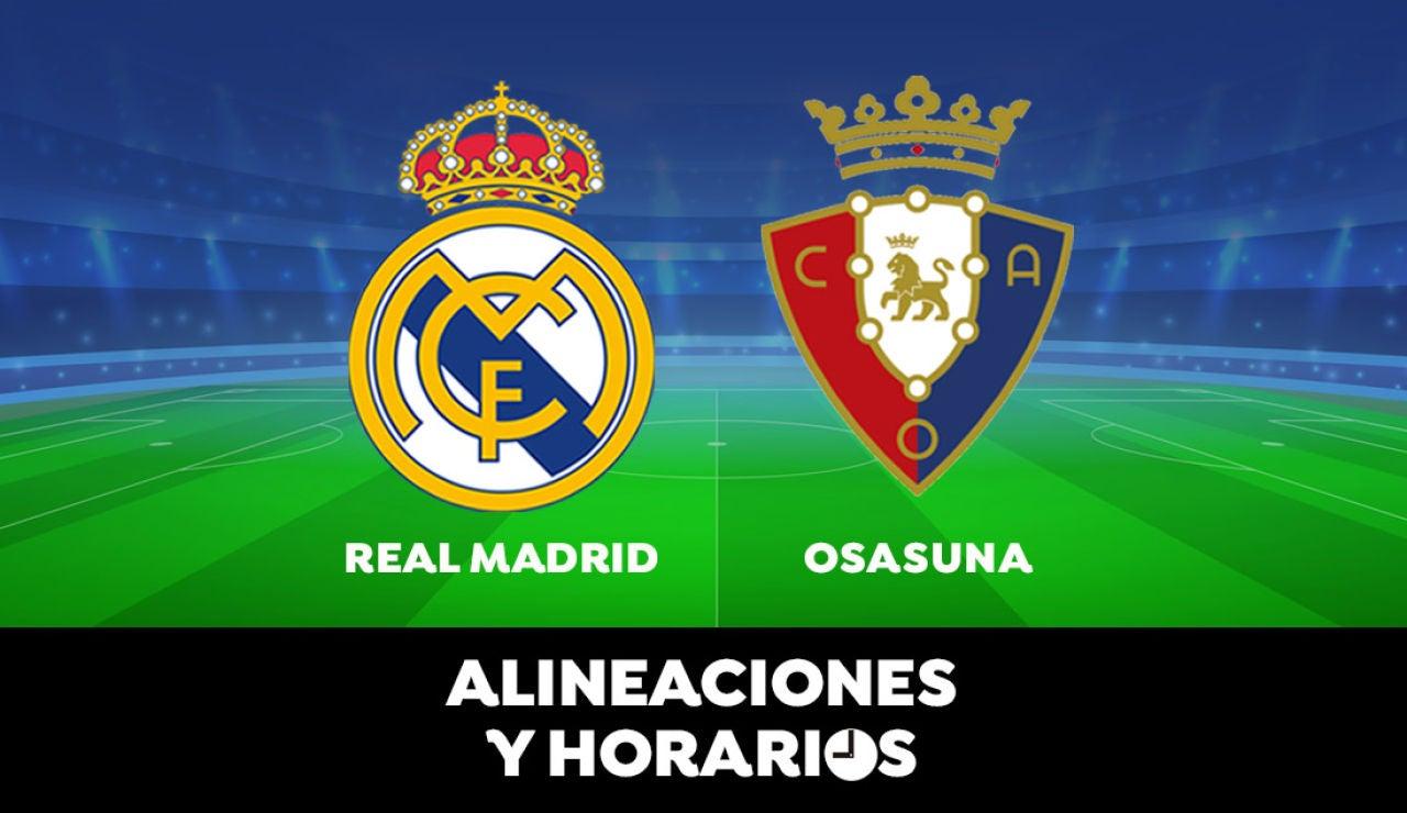 Real Madrid - Osasuna: Horario, alineaciones y dónde ver el partido de la Liga Santander en directo