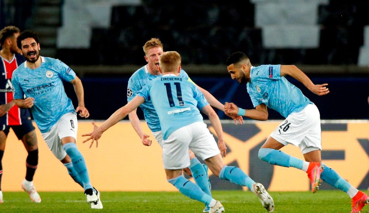 El City pone un pie en la final de Champions tras ganar al PSG en París