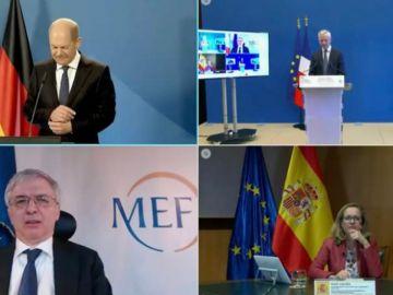 Nadia Calviño pide ante Bruselas, junto a sus homólogos francés, italiano y alemán, la aprobación urgente del Plan de Recuperación