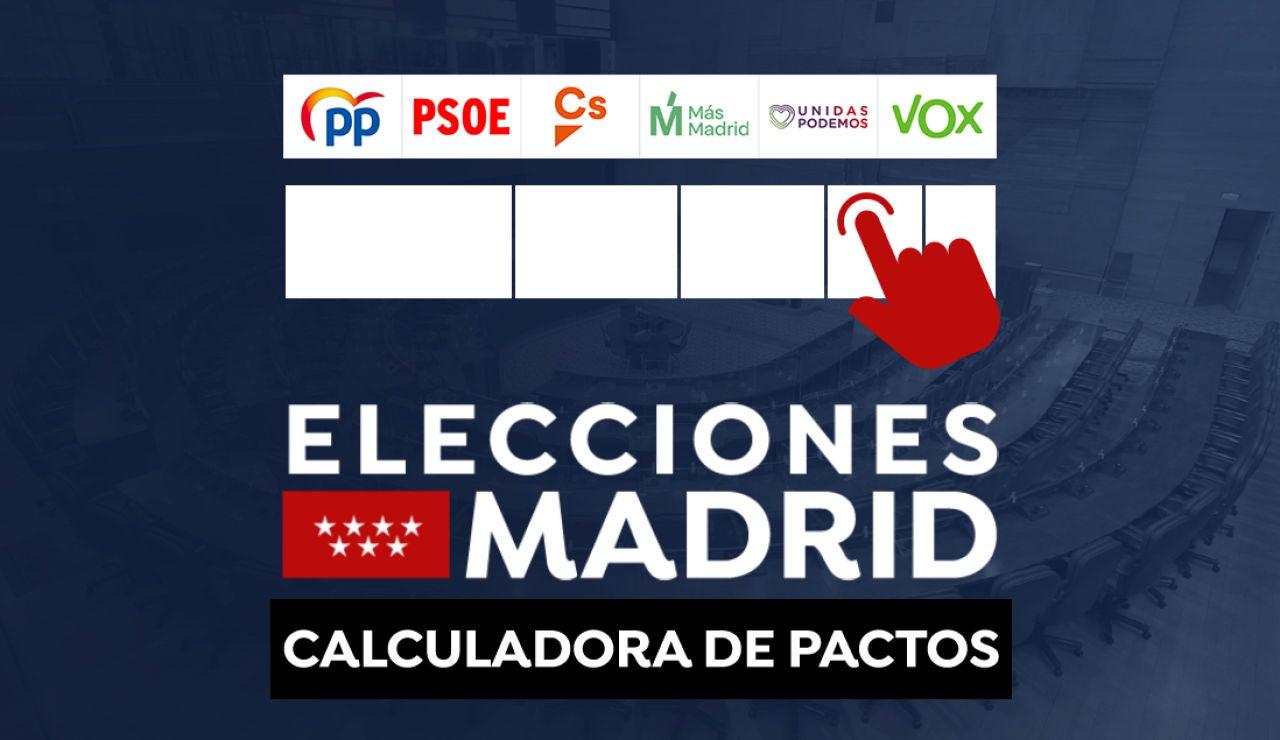 Calculadora de pactos: Comprueba los posibles acuerdos en Madrid tras el 4M en directo