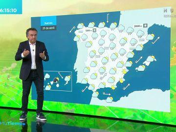 La previsión del tiempo hoy: Lluvias fuertes en Castilla y León, Aragón, norte de Cataluña y este del sistema central