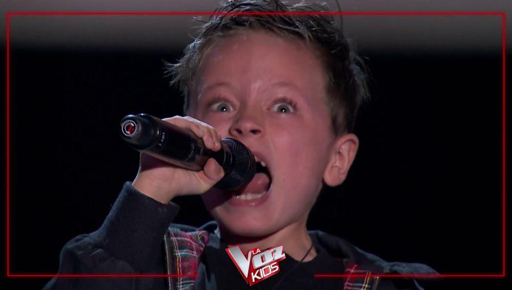 Avance de 'La Voz Kids': Jesús desata la locura al ritmo de ACDC