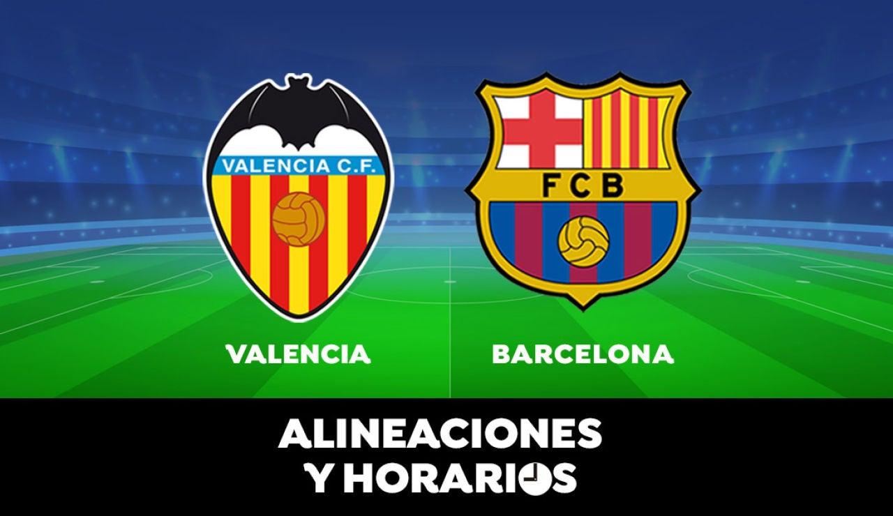 Valencia - Barcelona: Horario, alineaciones y dónde ver el partido de la Liga Santander en directo