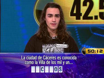 Una pregunta y cincuenta segundos separan a Borja de  42.500 euros en el Duelo Final de '¡Ahora caigo!'