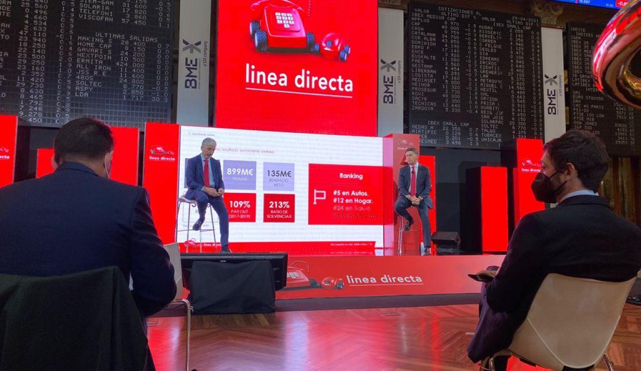 Línea Directa protagoniza el primer estreno de este año en la Bolsa