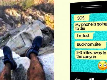 Un selfi, Google Earth e imágenes satelitales, así consiguieron rescatar a un excursionista perdido en California