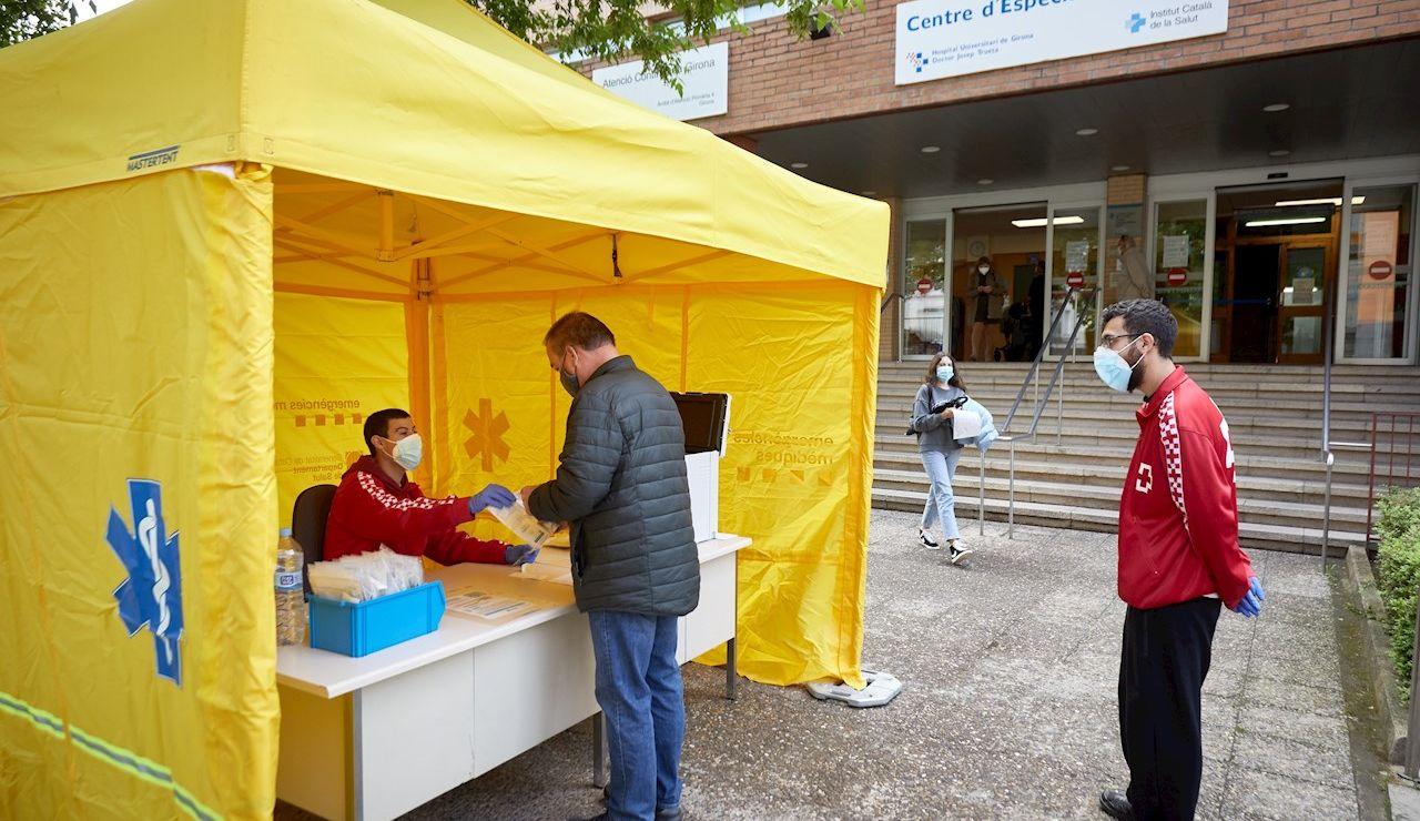 Centro de cribado en Gerona para detectar el coronavirus