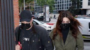 Marisa Jara, con su novio Miguel Almansa