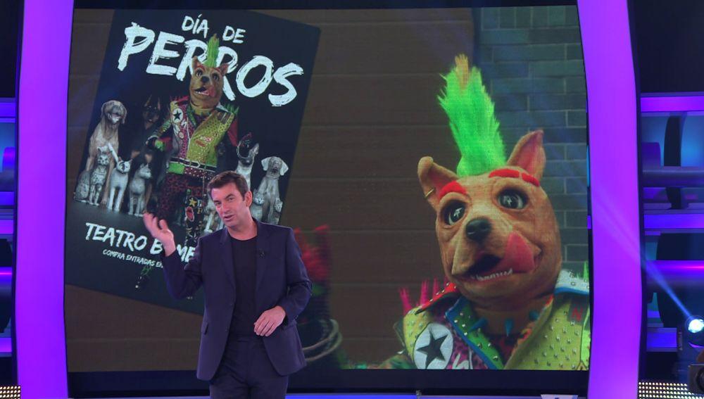 """Arturo Valls desvela la primera pista sobre el Perro de 'Mask Singer': """"Lo de ponerse delante de un micrófono y unas lucecitas es pienso comido"""""""