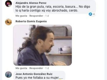 Chat donde amenazan a Pablo Iglesias