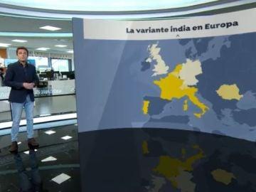 Variante india del covid-19 presente en Europa