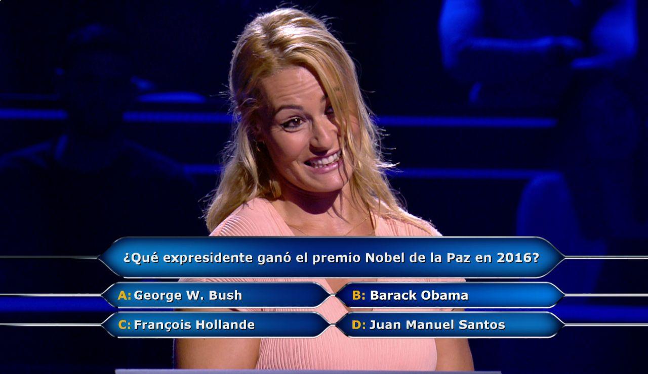 Obama, el comodín del público y 20.000 euros en juego, ¿acertará Lydia Valentín?