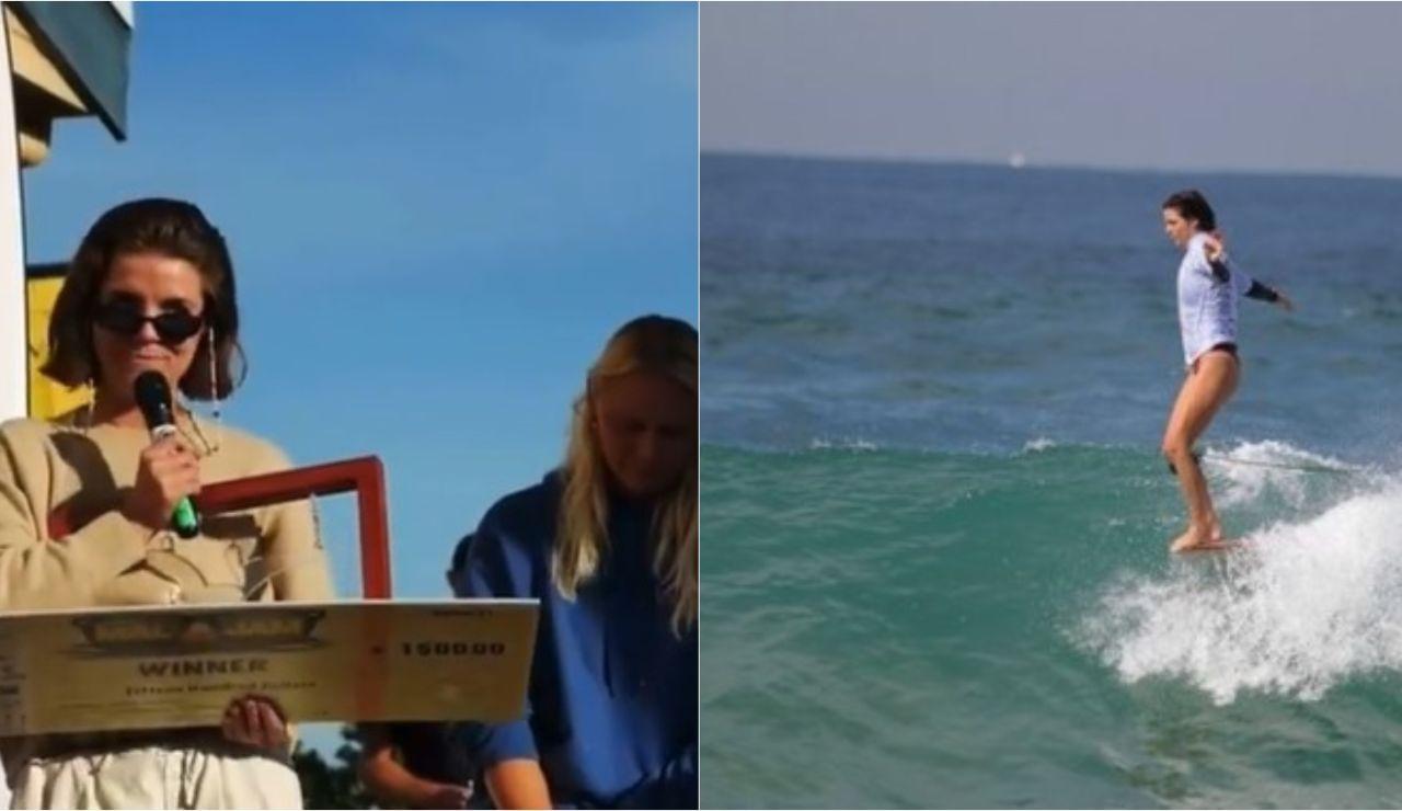 """El aplaudido discurso de Lucy Small, surfista australiana: """"Nuestro surfing no vale ni la mitad que el de los hombres. Estamos hartas"""""""