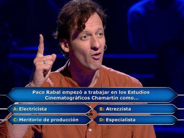 ¡Lo ha bordado! Edu Soto llena el plató de aplausos tras una magnífica imitación a Paco Rabal en '¿Quién quiere ser millonario?'