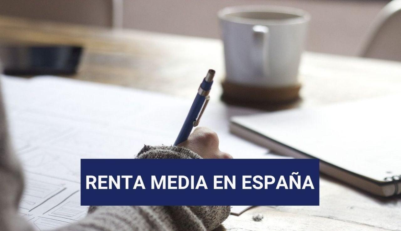 El mapa de la renta en España