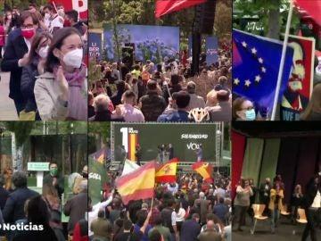 Actos de la campaña de las elecciones de Madrid de este sábado 1 de mayo