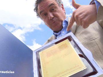 Roberto Brasero recibe el reconocimiento al grupo Atresmedia en San Sebastián de los Reyes