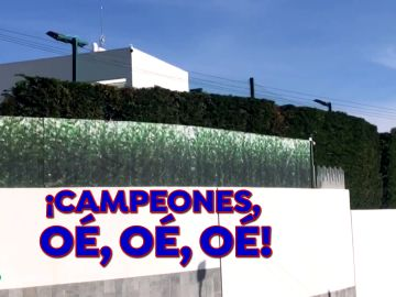Comida de la plantilla en casa de Leo Messi