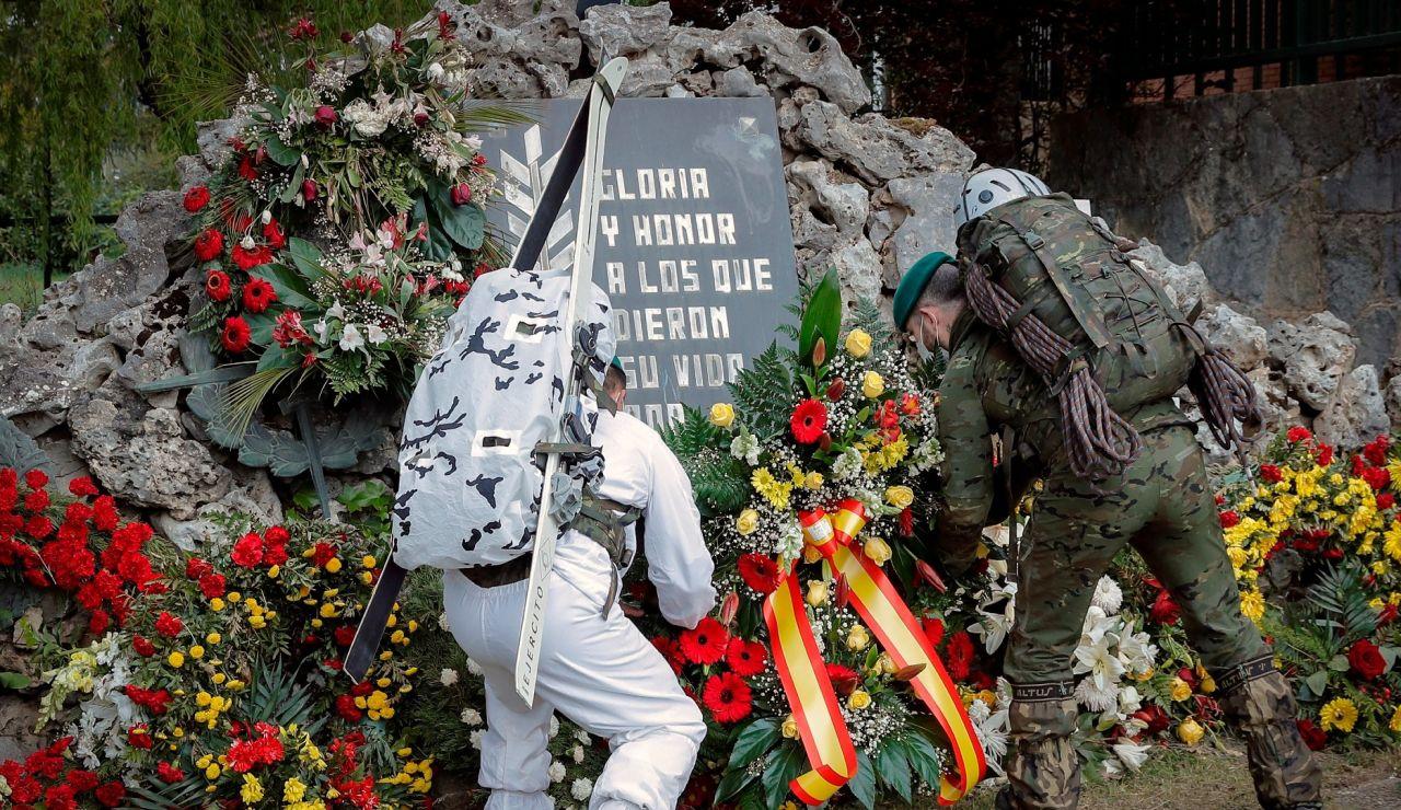 Homenaje al militar fallecido por la vacuna de AstraZeneca
