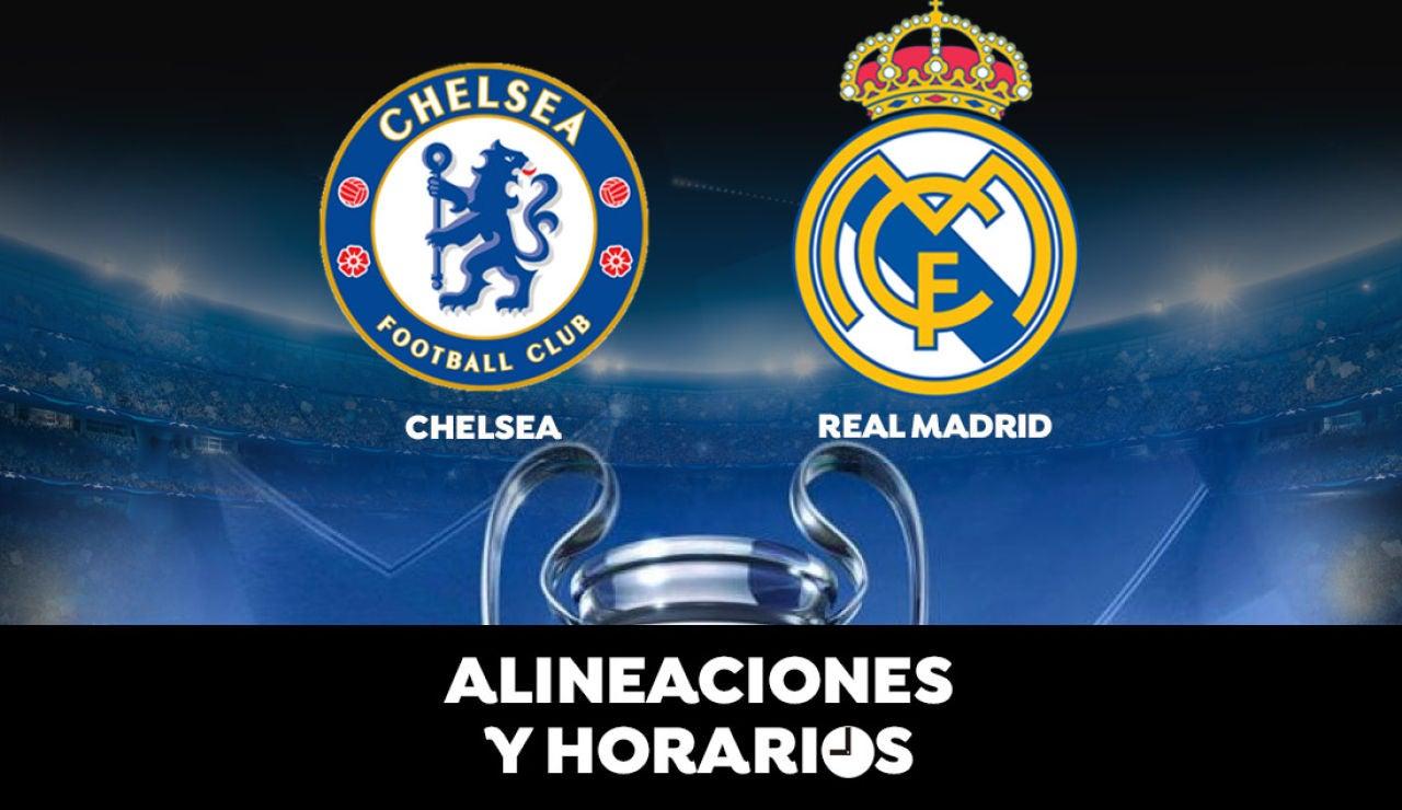 Chelsea - Real Madrid: Horario, alineaciones y dónde ver el partido de la Champions League en directo