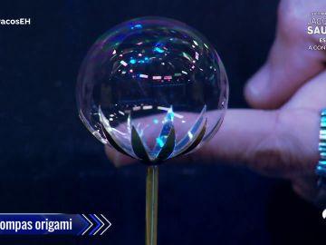 Pompas y origami, la fusión imposible y a la vez perfecta para crear un bonito experimento