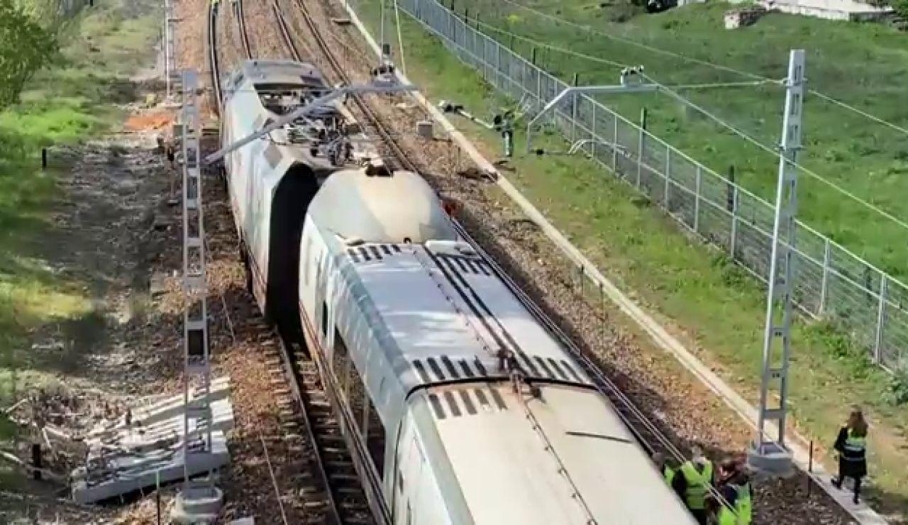 Descarrila un tren Alvia León-Asturias con 40 pasajeros a bordo y sin provocar heridos
