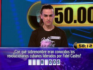 Dos preguntas y un minuto por delante, ¿podrá Borja llevarse de nuevo el Duelo Final de '¡Ahora caigo!'?