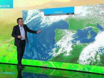 La previsión del tiempo hoy: Lluvias fuertes acompañadas de tormentas en Castilla y León y sur del sistema Ibérico