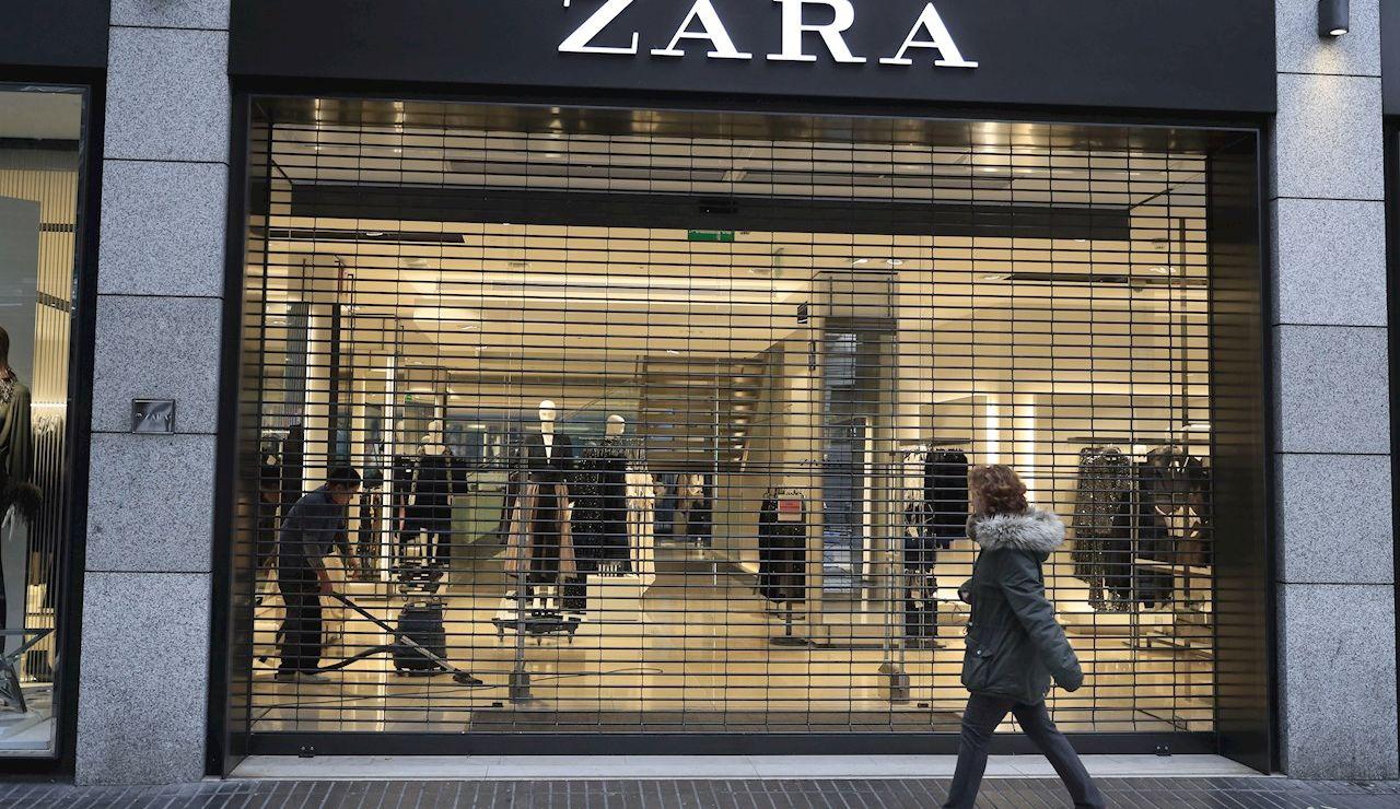 El escaparate de una tienda de Zara