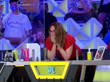 El mazazo de Vanesa en 'La ruleta de la suerte': quiebra con 3.050€ a falta de una consonante