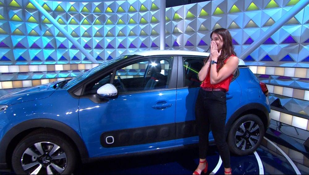 ¡Ha llegado a lo más alto! Marta se lleva el coche de 'La ruleta de la suerte'