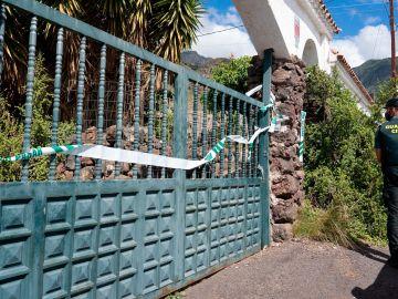 La casa del padre desaparecido con las niñas en Tenerife
