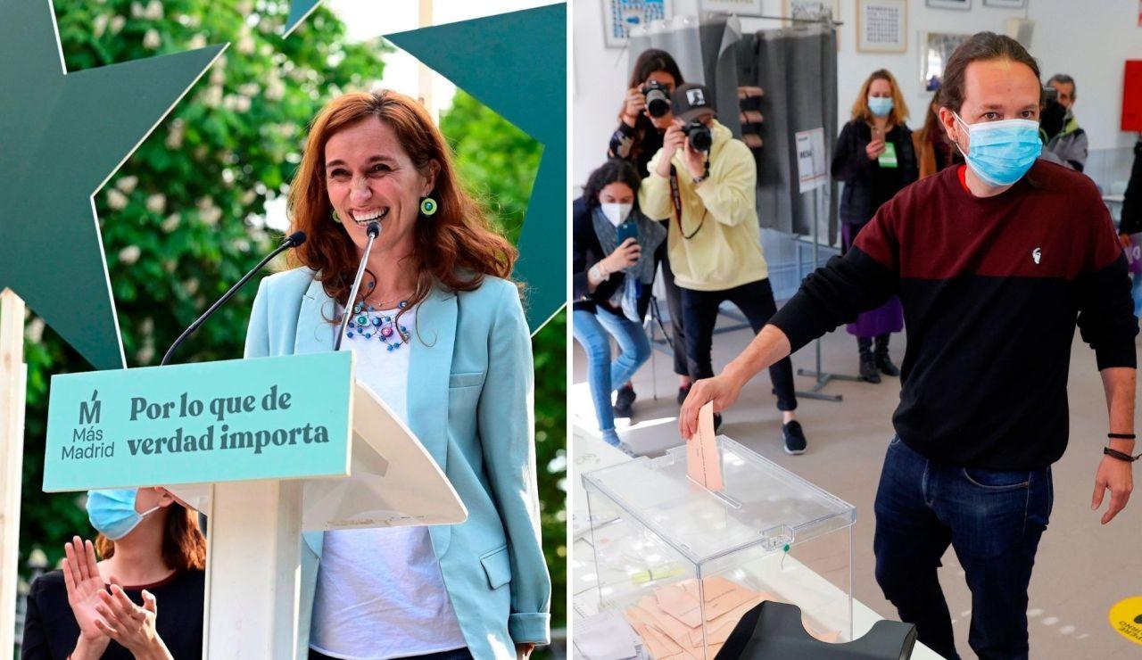 Cómo ha funcionado el efecto Mónica García y Pablo Iglesias en las elecciones de Madrid