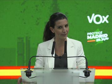 Rocío Monasterio anuncia que facilitará el Gobierno de Isabel Díaz Ayuso en Madrid