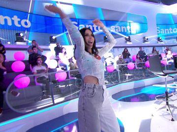 Nika acompaña su victoria con una coreografía en 'La Pista'