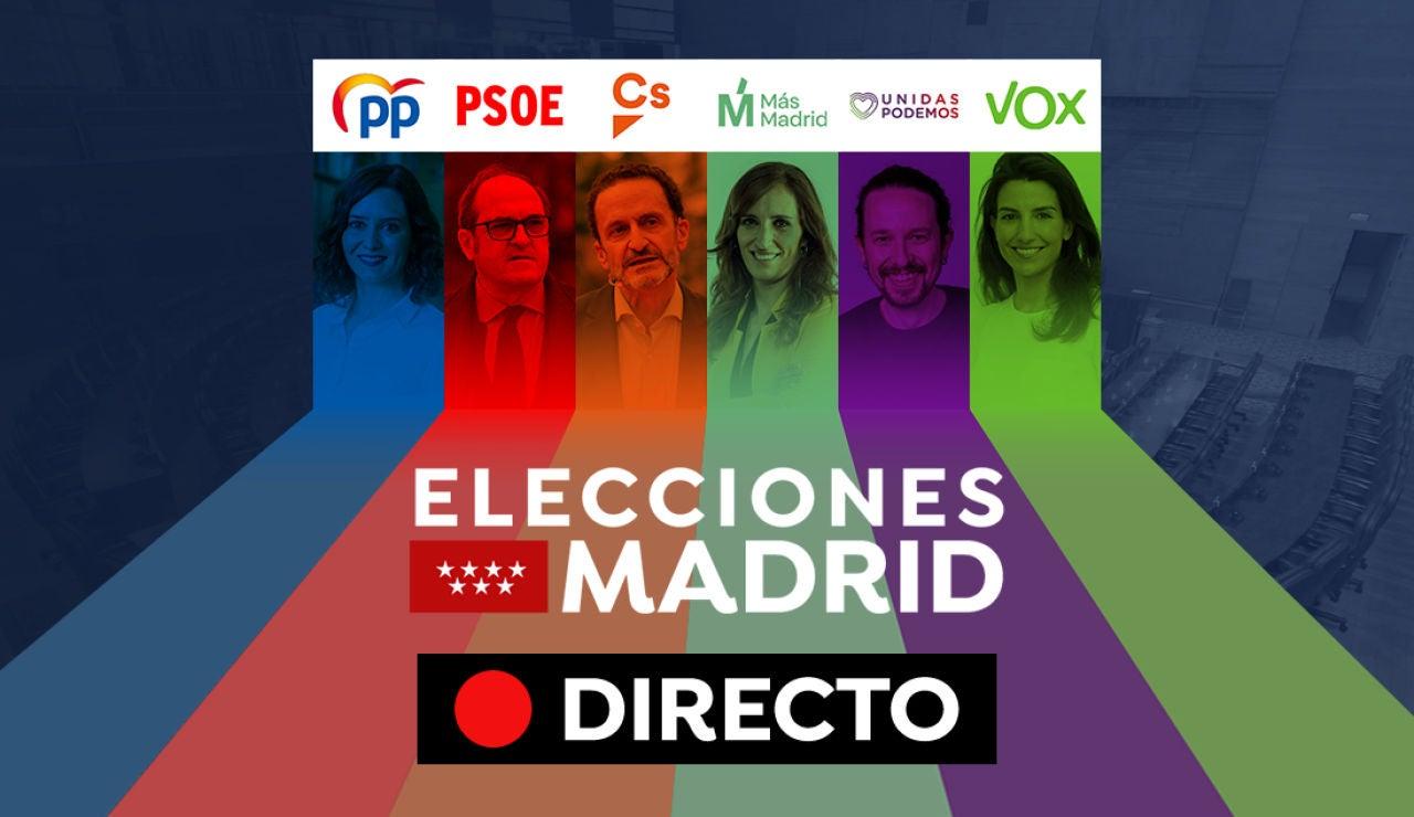 Elecciones Madrid 2021: Horario votación, colegios electorales y última hora del 4M, en directo