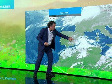 La previsión del tiempo hoy: Lluvias dispersas en Andalucía y Baleares con ascenso generalizado de temperaturas