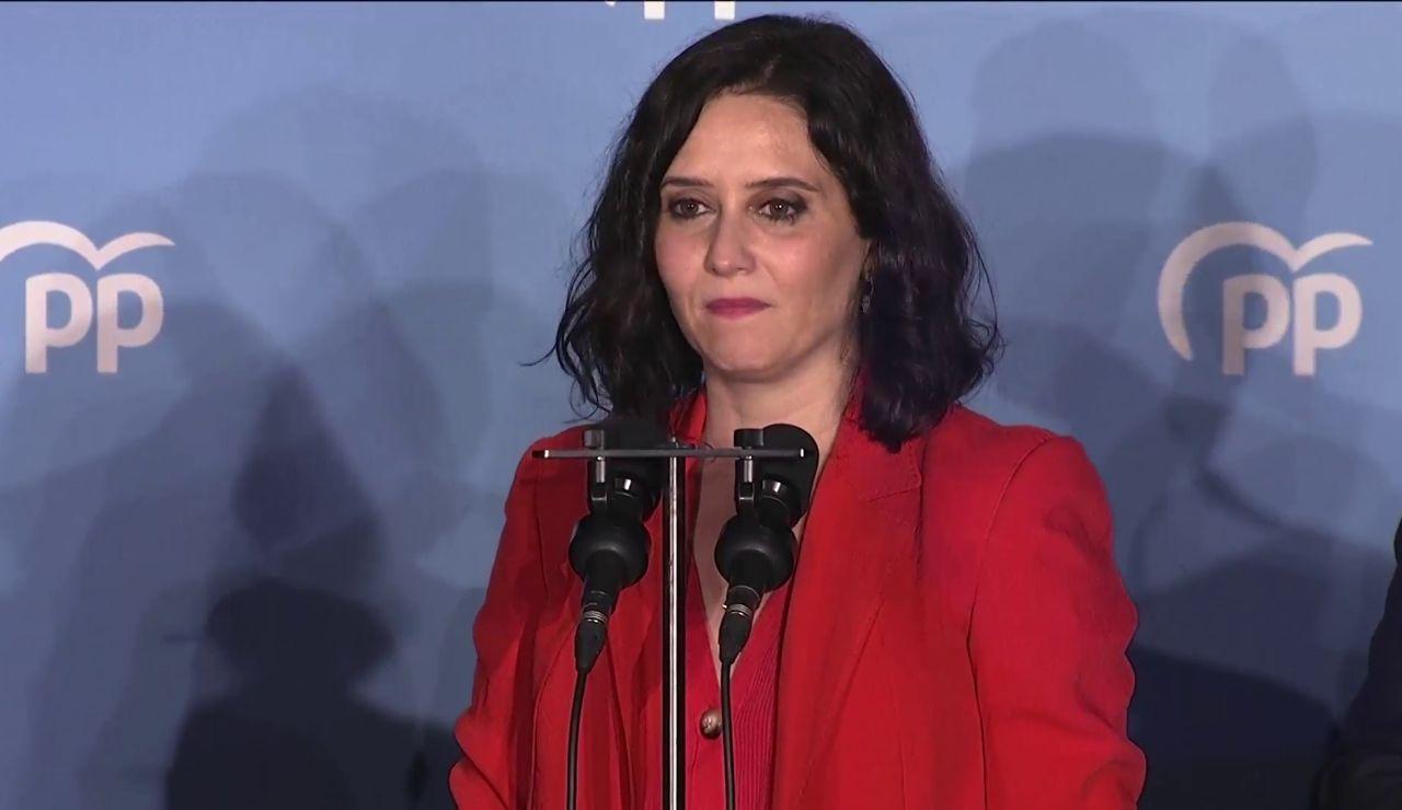 El discurso completo de Isabel Díaz Ayuso tras ganar las elecciones de Madrid