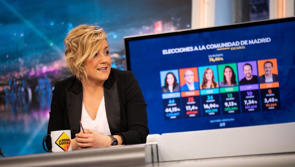 ¿La victoria es de Ayuso o del PP? Cristina Pardo lo aclara en 'El Hormiguero 3.0'