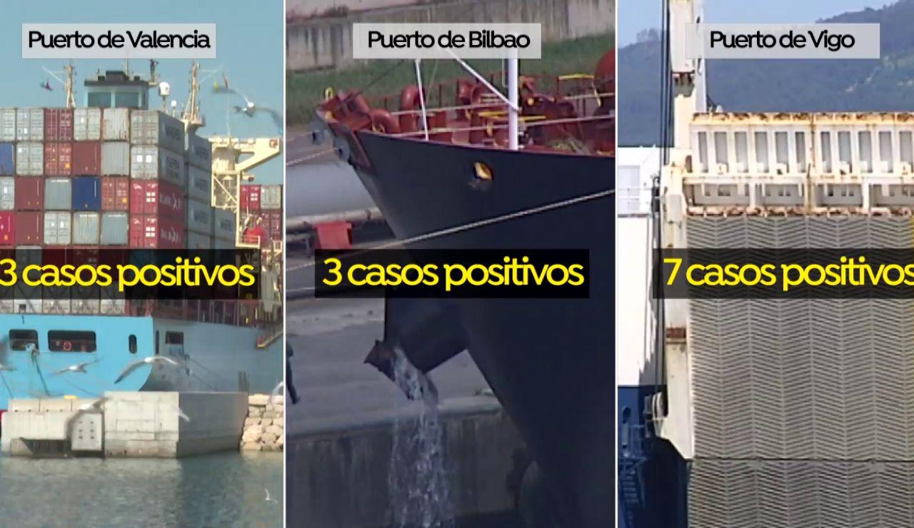 3 barcos fondeados en 3 puertos españoles por la variante india del coronavirus